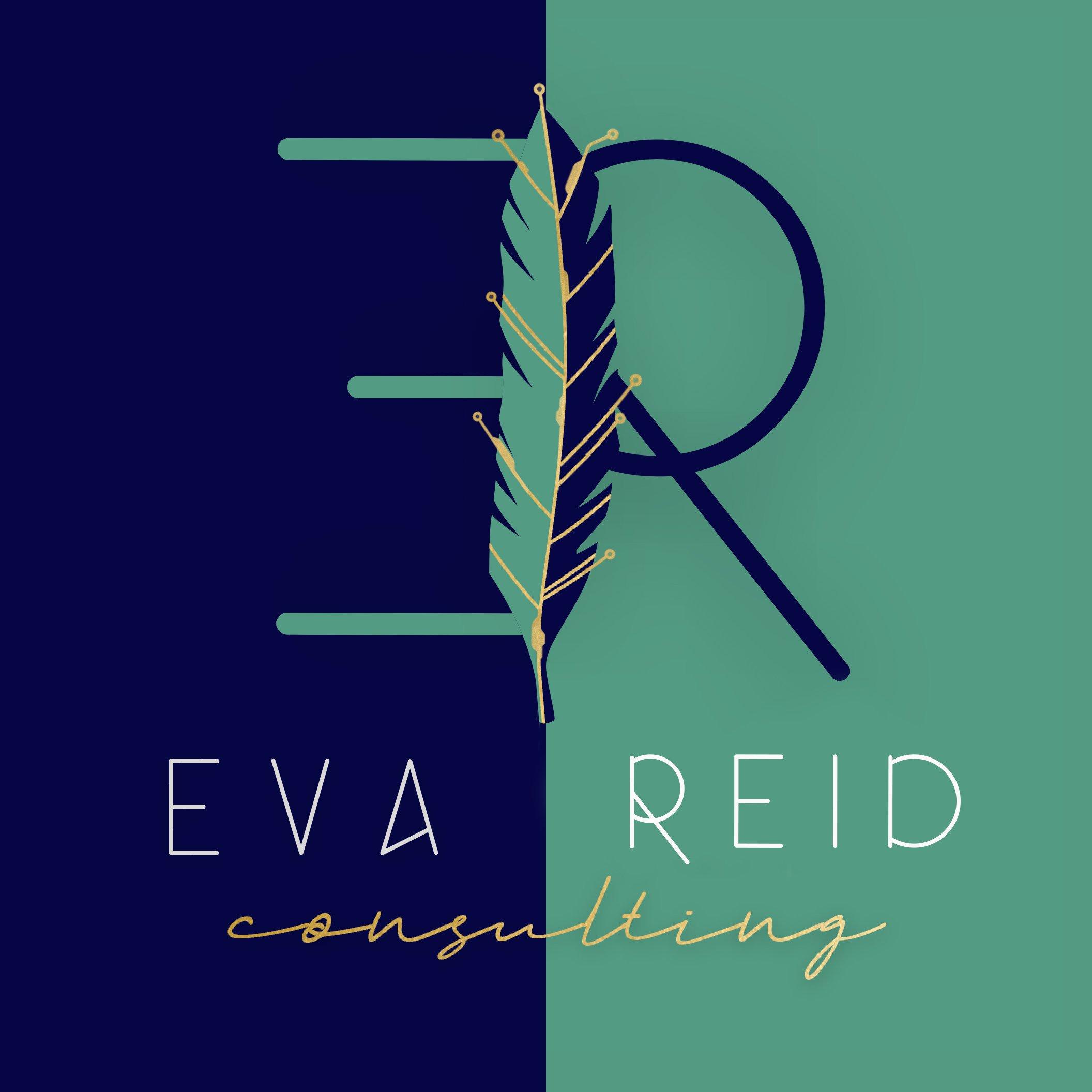 custom creative artistic logo design consulting feather technology eva reid